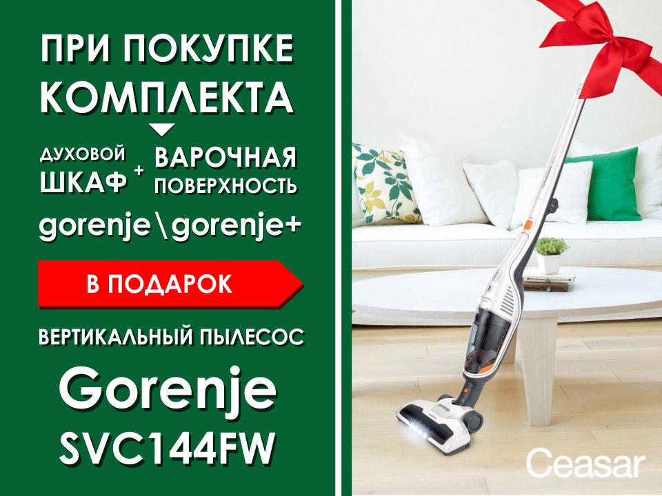 Ceasar - Мы дарим Вам вертикальный пылесос Gorenje